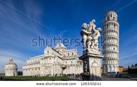 stock-photo-pisa-place-of-miracles-the-leaning-tower-and-the-cathedral-baptistery-126550241