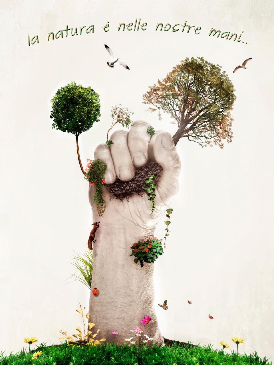 Nature in the Hand- fotografi pubblicitari – fotografia pubblicitaria
